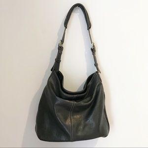 Tignanello Black Hobo Shoulder Bag